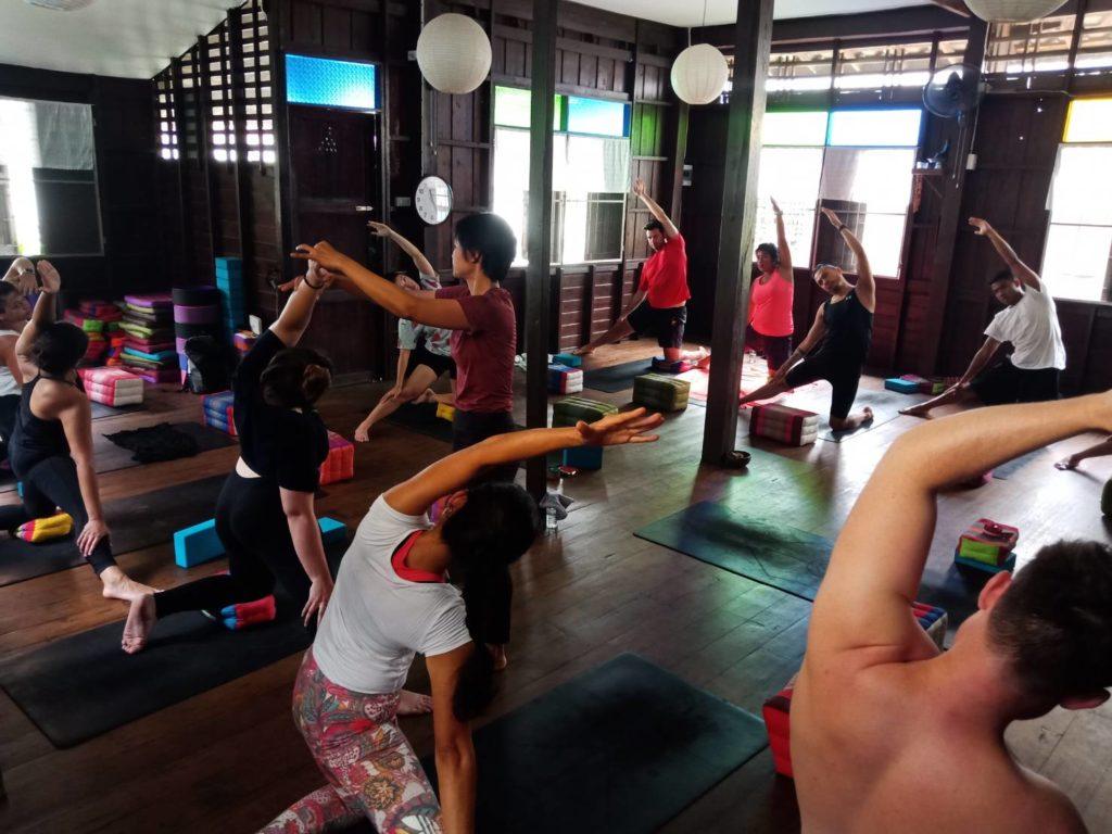 yoga class chiang mai - hidden house yoga