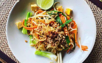 vegan cooking class chiang mai - pad thai