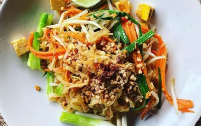 vegetarian cooking class chiang mi pad thai